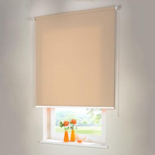 Store à enrouleur Double Store Pare-vue-HAUTEUR 100 cm beige-caramel