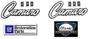1968-1969 Camaro Deluxe Door Panel Emblems **Pair** NEW GM Licensed Product
