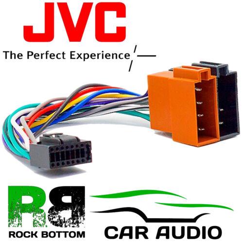 Jvc kd-r331 Modelo radio de coche estéreo 16 pin arnés de cableado Telar ISO Plomo Adaptador