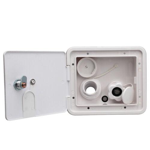 Universal White Gravity Water Hatch Fill Dish Lock Keys RV Trailer #2