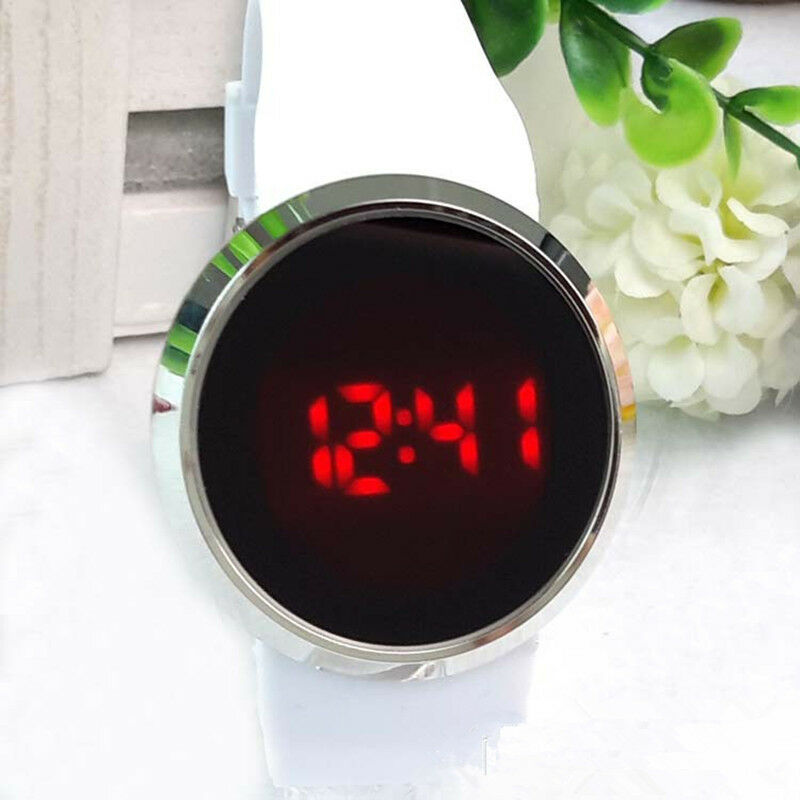 New Cool Waterproof Mens Watch LED Touch Screen Date Silicone Wrist Black Watch 2