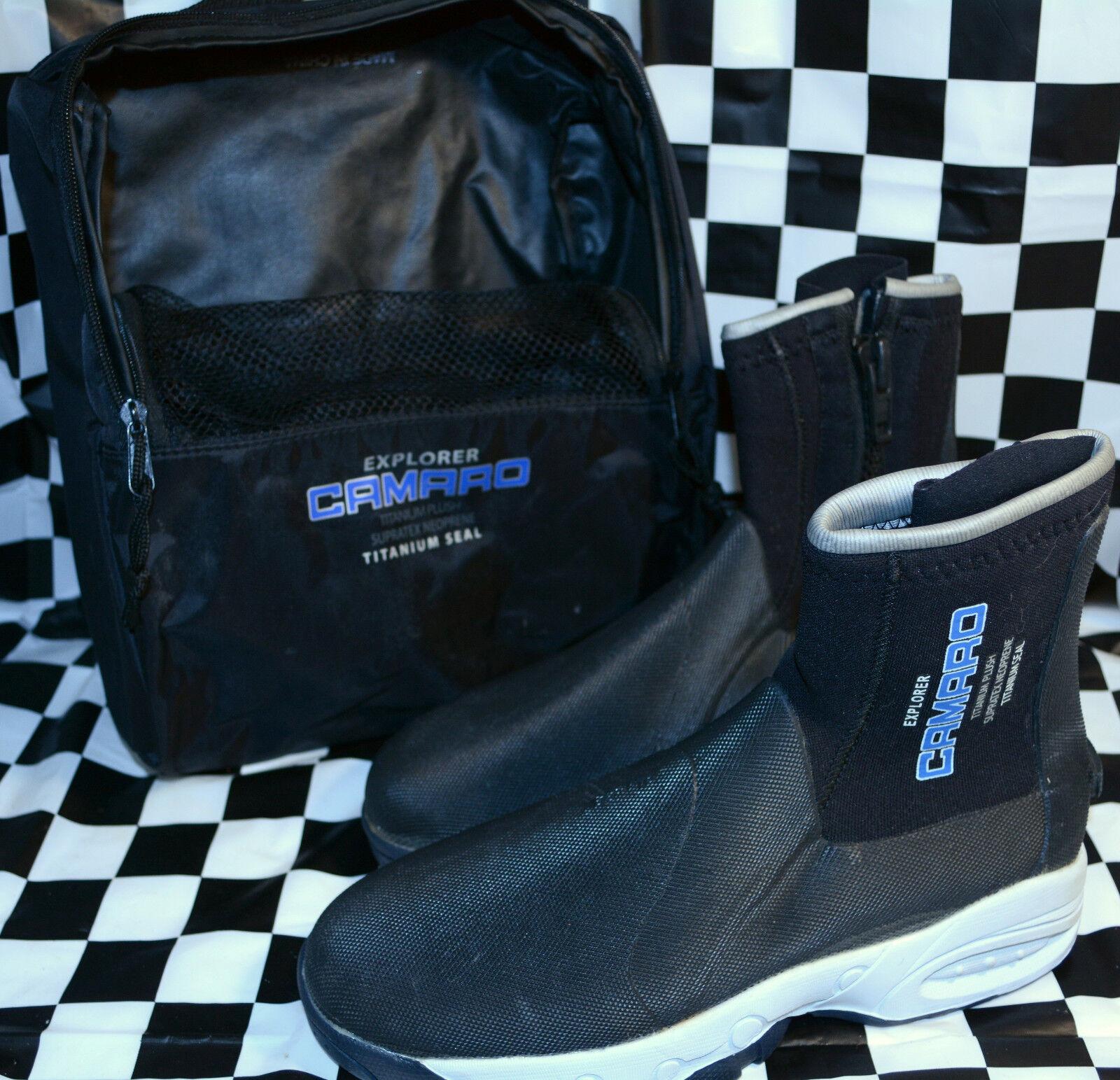 Camaro Explorer Hard Sole Dive Boots Titanium with Storage Bag NEW size 40