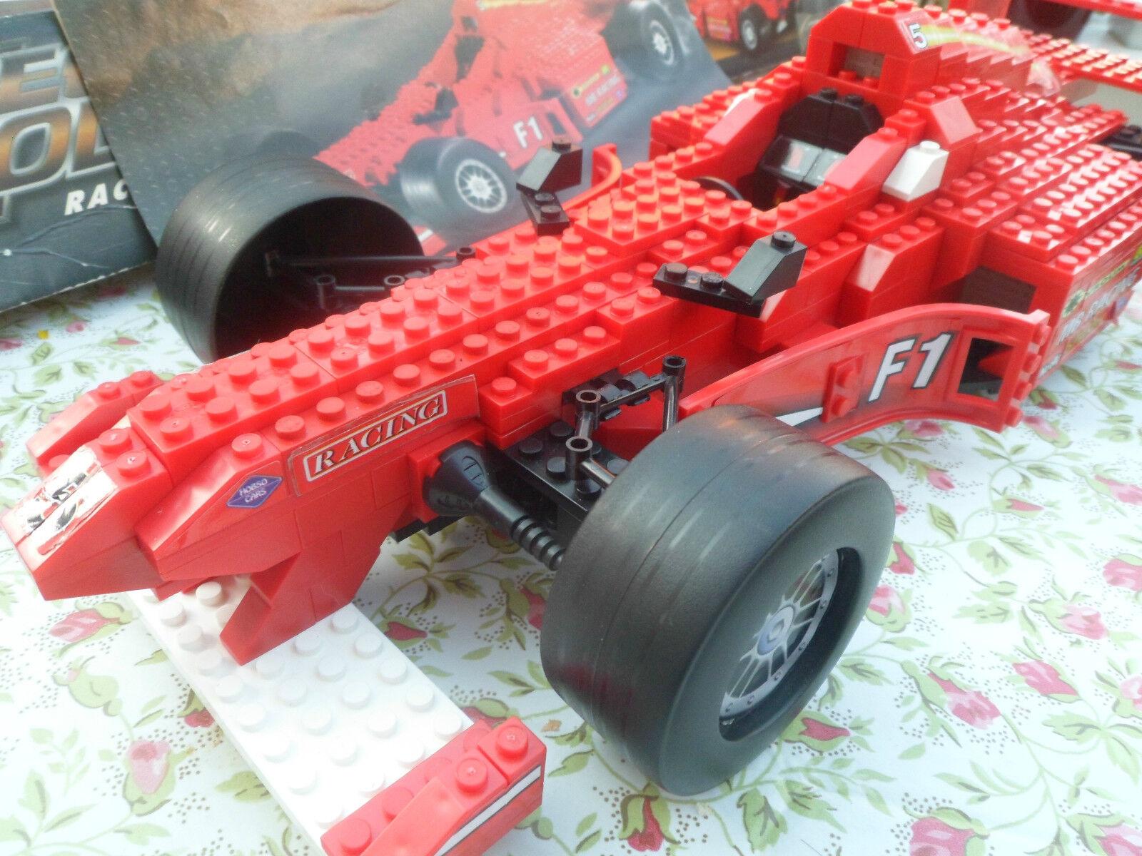 RARE BUILT MEGA BLOKS BLOKS BLOKS MEGA MODELZ - RACE CAR. 490 PCS, 9751 5e9328