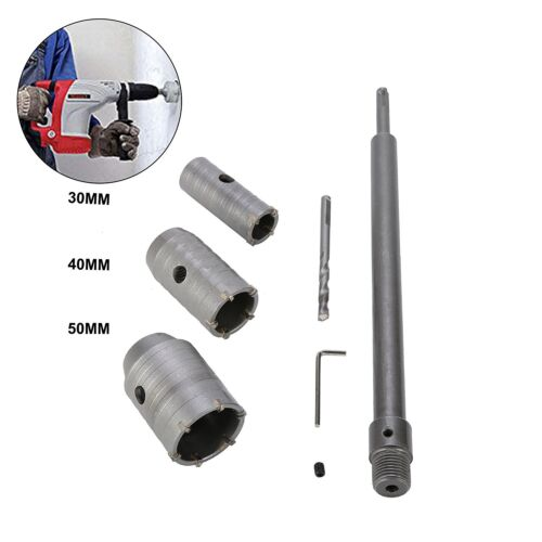 3pcs 30//40//50mm SDS Plus Shank Hole Saw Cutter Concrete Cement Stone Wall Drill