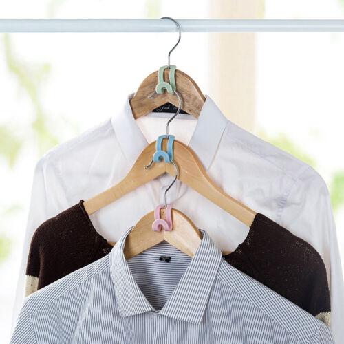 5x Mini Kleiderbügel Kleiderhaken Halter Closet Organizer Space Save CBL
