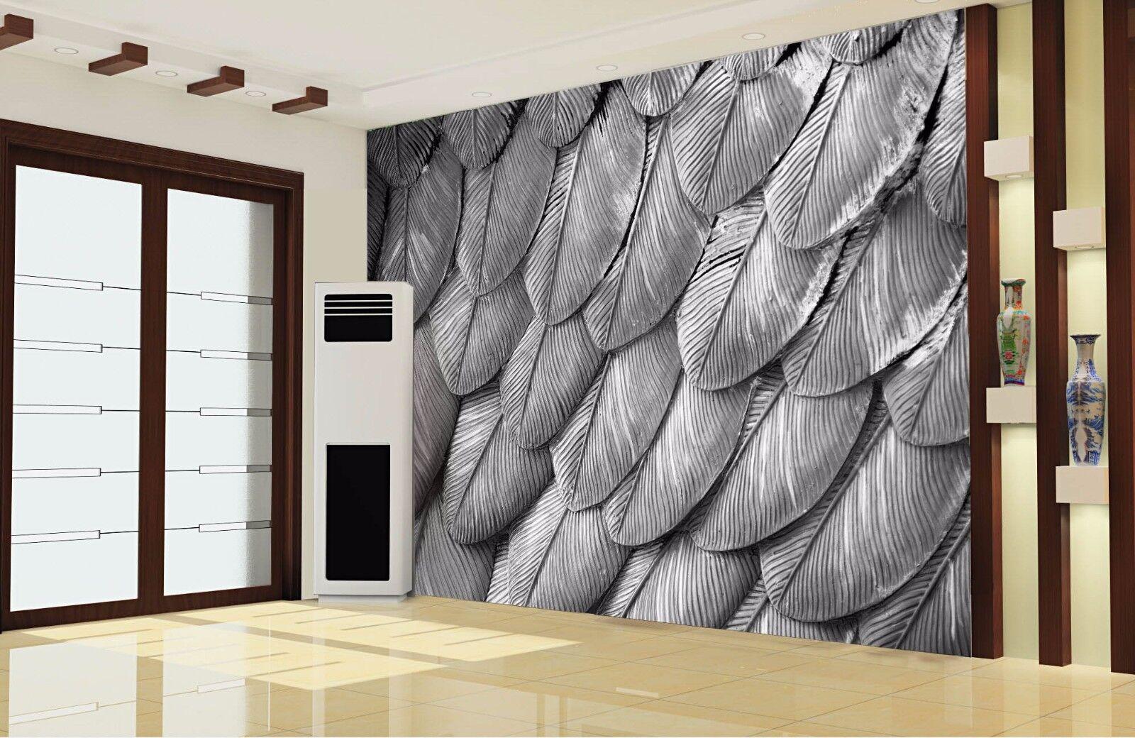 3D greye Federn 74 Tapete Wandgemälde Tapete Tapeten Bild Familie DE Lemon