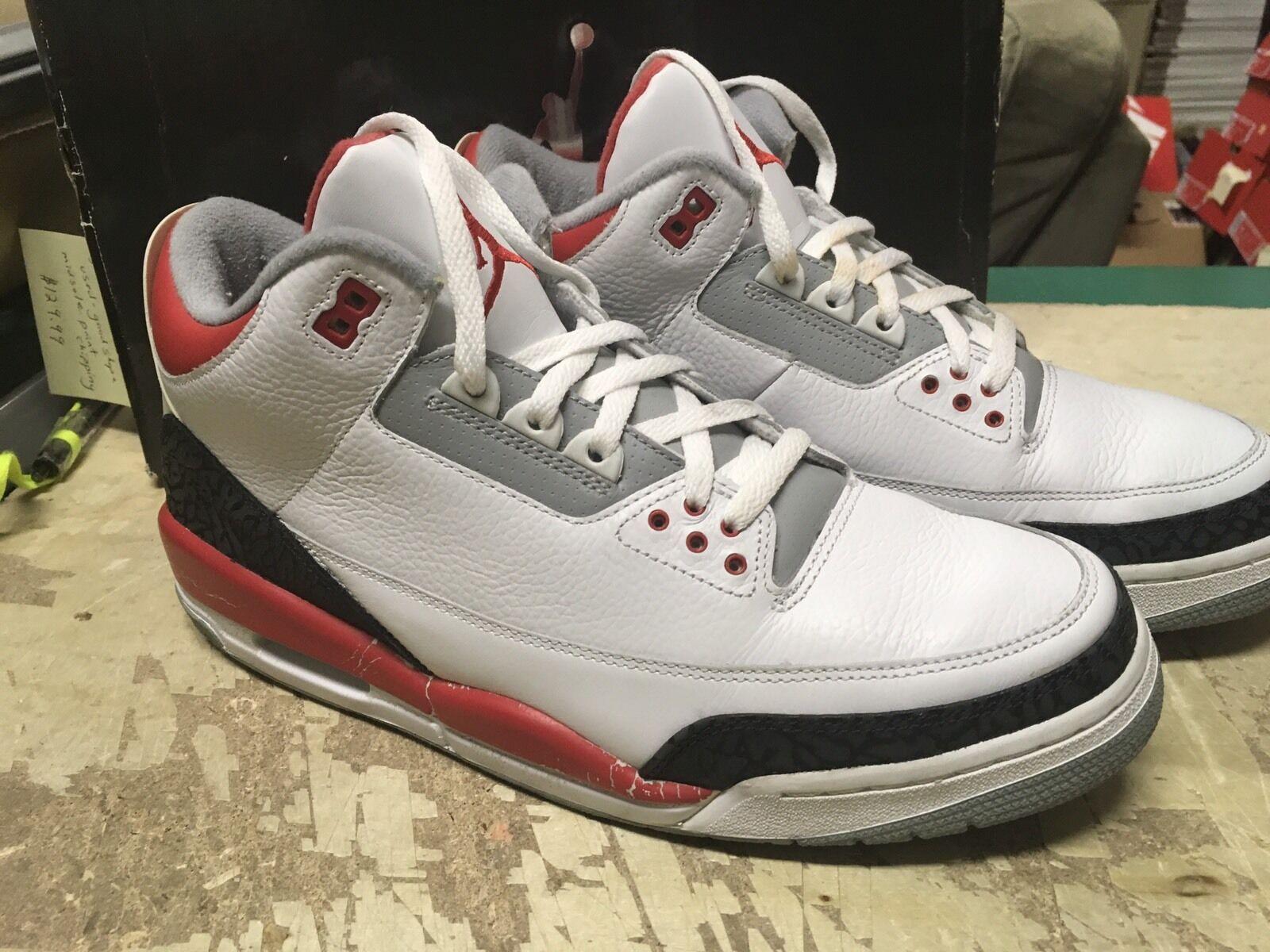 huge discount 7131b e210b Usa Hombre nike air Jordan III 3 Edicion retro 2018 Edicion 3 rojo fuego  136064 161 reducción de precios el último descuento zapatos para hombres y  mujeres ...