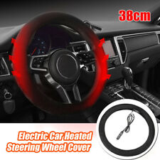 """Small Ant Heated Steering Wheel Cover,12V Heated Auto Steering Wheel Heater Car Steering Cover Warmer Winter,15/"""""""