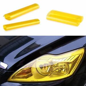 Quality-Glossy-Wrap-Tail-Golden-HOT-Yellow-Durable-Film-Car-Headlight-Tint