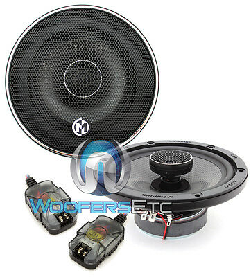 "MEMPHIS MCX62 6.5"" CAR AUDIO 2-WAY ALUMINUM ALLOY TWEETERS COAXIAL SPEAKERS NEW"