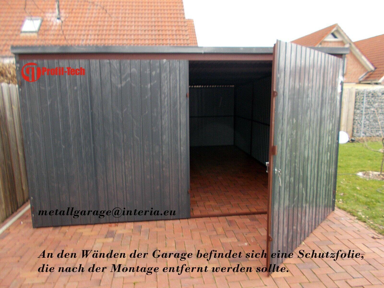 4X6,5 Blechgarage Fertiggarage Metallgarage LAGERRAUM GERÄTESCHUPPEN garage