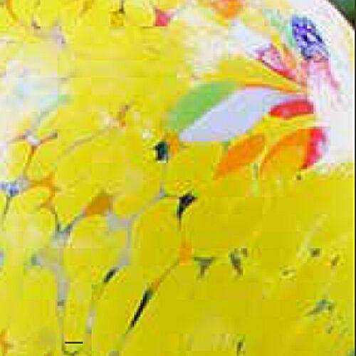 Glas TWIST 50 cm hängend mit Stab mundgeblasen 6 Farben 15001 Gartendeko