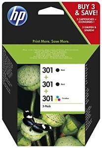 HP-301-Multipack-Original-Druckerpatronen-2x-Schwarz-1x-Farbe-fuer-HP-Des
