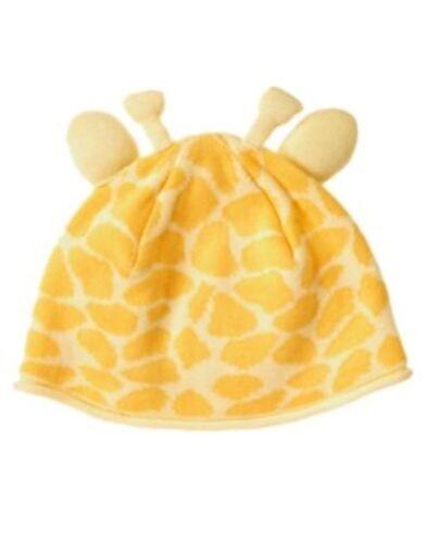 GYMBOREE BABY GIRAFFE YELLOW GIRAFFE SKIN SWEATER HAT 0 3 6 12 18 24 NWT