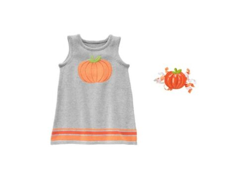 NWT Gymboree SPOOKY /& SPARKLY HAPPY HARVEST 2T 5T Sweater Dress Jumper /& Hair