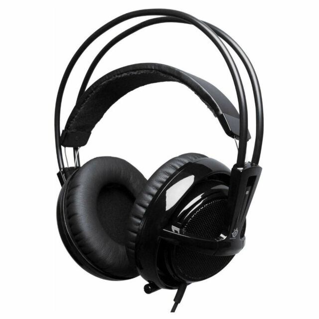 SteelSeries Siberia V2 Full-Size Black/Gold Headband Headsets for  Multi-Platform