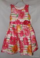 Trendy Bright Pink Floral Girls 3t / 3 Toddler Sleeveless Church Dress
