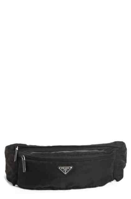9dd52101fe00 100% AUTHENTIC NEW PRADA MEN TESSUTO BLACK NYLON WAIST FANNY PACK BAG