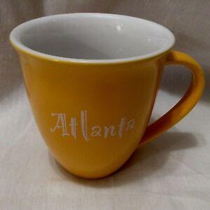 Image Is Loading Atlanta Mustard Yellow 16 Oz Large Tall Ceramic
