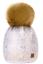 Kids Winter Beanie Hat Girls Children Knitted Girl Hats Worm Large Pom Pom Pearl