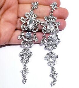 Chandelier-Earrings-Rhinestone-Clear-Crystal-4-4-inch