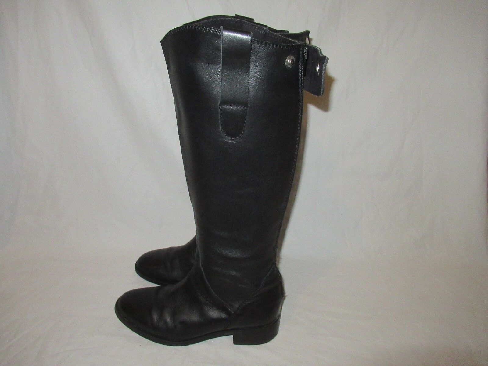 STEVE MADDEN BLACK LEATHER RIDING Knee High Fashion BOOTS Größe Damenschuhe 8 M