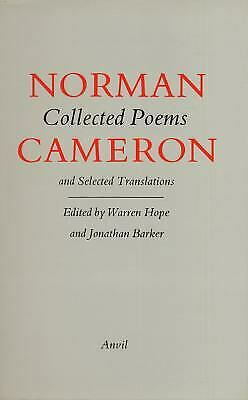 Collected Poems and Selected Translations Hardcover Norman Cameron