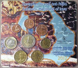 GRX2012.2 - SERIE BU EUROS GRECE - 2012 - 1 cent à 2 euros