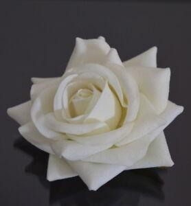 Herrlich Luxus Brosche Haarspange Rose Velour Haarblüte Ansteckblume Haarblume Hochzeit Ein Unbestimmt Neues Erscheinungsbild GewäHrleisten
