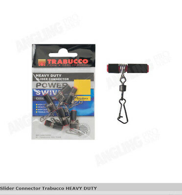 light boat fishing Trabucco Quality Strong Slider Connector 5 per pack feeder