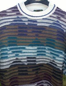Farben-Alexander-Julian-Vintage-Bill-Cosby-Pulli-Baumwolle-Maenner-gross-Made-in-USA