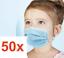 Indexbild 1 - 50x Masken Kinder Mund-Nasen-Schutz 3-lagig Mundschutz Gesichtsmaske Rosa Blau