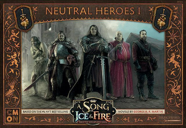 A Song Of Ice And Fuego Neutral Héroes 1 (Inglés) Cool Mini Or Not Westeros