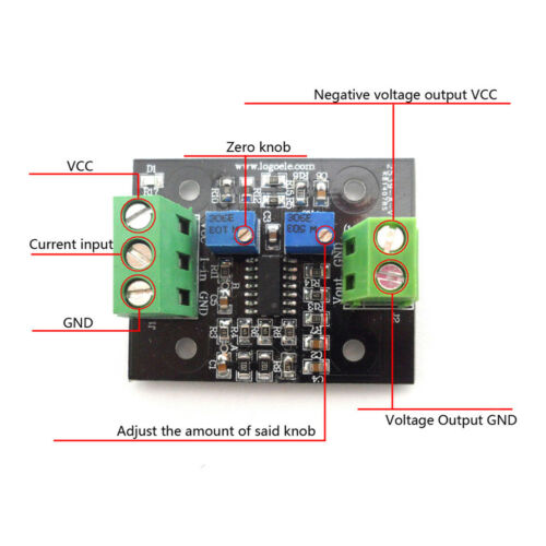 Current to Voltage Module 4-20mA to 0-5V Transmitter Signal Converter Base