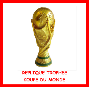 MINI-COUPE-DU-MONDE-OR-REPLIQUE-13cm-RESINE-TROPHEE-FOOTBALL-FRANCE-98-WORLD-CUP