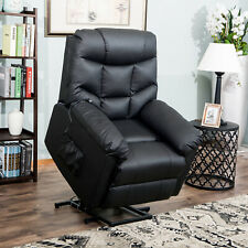 Awe Inspiring Merax Power Lift Chair Recliner In Pu Leather Living Room Gmtry Best Dining Table And Chair Ideas Images Gmtryco