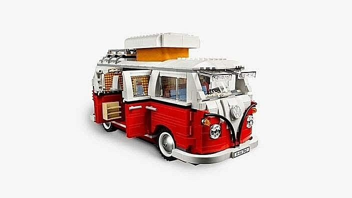VW Original LEGO-Bausatz, VW T1 Bulli Campingbus, rot/weiß, 211099320