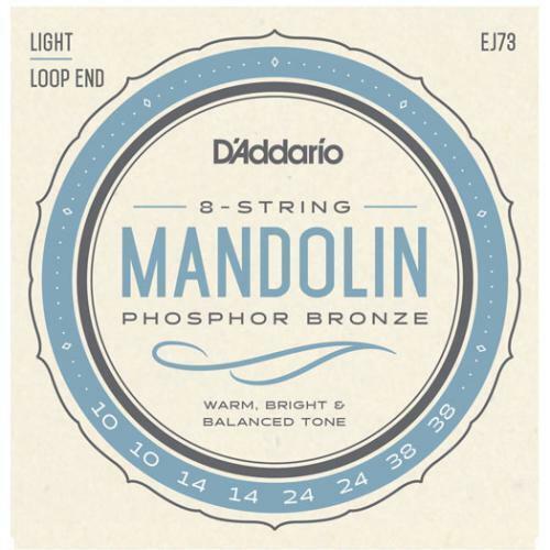 3 Sets of D/'Addario Phosphor Bronze EJ73 Mandolin Strings Loop End Light Gauge