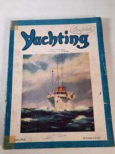 Vintage june 1928 Yachting magazine .Boating advertisements