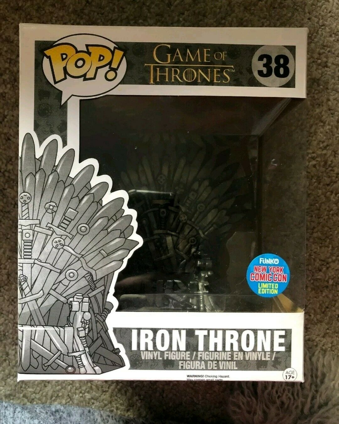 Iron Throne FUNKO POP  Game of thrones. GOT. Vaulted. RARE. NYCC. Mint