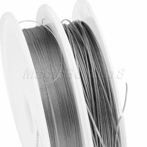 1*7 Strands Stainless Steel Wire Fishing Line Dia 0.3mm-1mm 10M Strength New