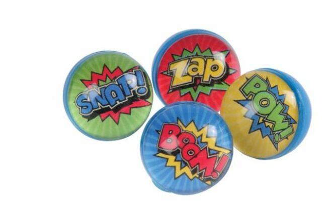NEW SUPER HERO THEME PARTY FAVOURS BOUNCY BALLS 32MM (12)