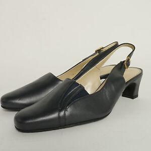 1ea7e1704eb9 Van Dal Boston Slingback Shoe Navy Blue Wide Fitting EE RRP £64.99 ...