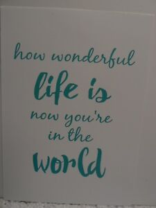 Cardboard-Sign-034-how-wonderful-life-is-now-you-039-re-in-the-world-034-300mm-X-210mm