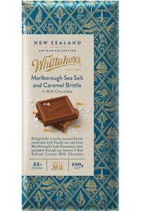 Details About Whittakers Sea Salt Caramel Milk Chocolate Block 100g