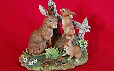 Andrea by Sadek Rabbit Family Figurine #6646 Collectible ( Excellent Condition )
