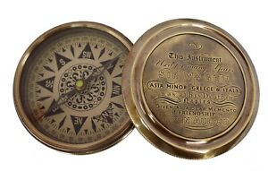 Brass Pocket Compass Solid BrassCompass