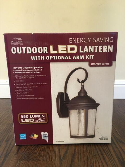 Altair Lighting Outdoor Led Lantern 950 Lumens Al 2150