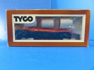 TYCO-Great-Northern-Skid-Flatcar-With-Pipe-Load-342A-HO-Scale-NEW