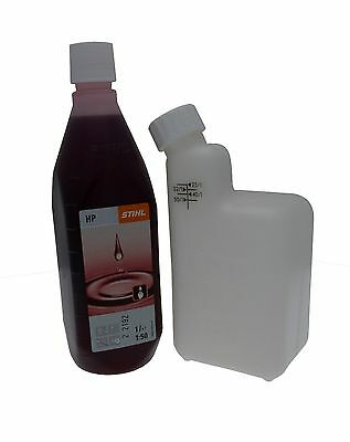 STIHL 1 Litre Bottle HP 2 Stoke Oil With Mixing Bottle For MS170 MS171 017 018